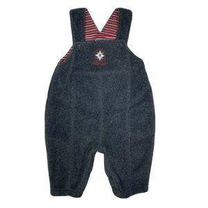 Oshgosh B'Gosh Fleece Overalls Gray Snap Button
